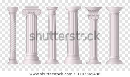 Roman column set, Greek pillar, Ancient architecture Stock photo © Andrei_