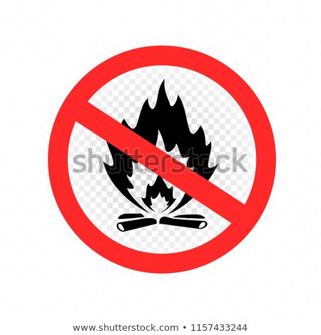 do not make fire sign icon transparent Stock photo © romvo
