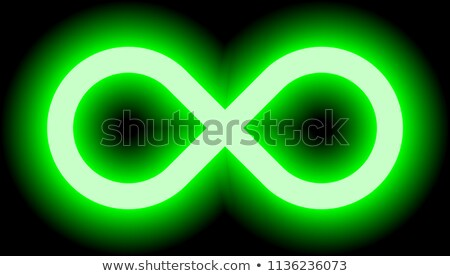 Infinity Symbol with Green Color Tints Vector Illustration Stock photo © cidepix