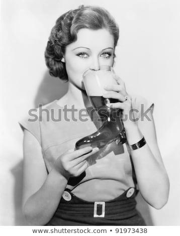 short hair old womenalcohol stock photo © toyotoyo