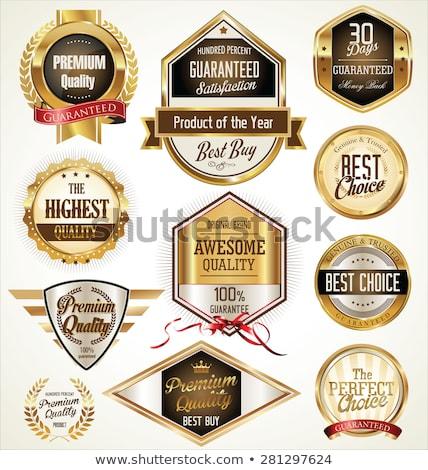 Prima calidad garantizar dorado etiqueta Foto stock © robuart