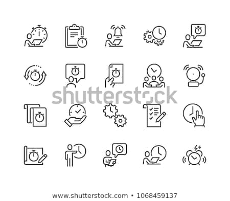 Deadline at Work Icons Set Vector Illustration Stock photo © robuart