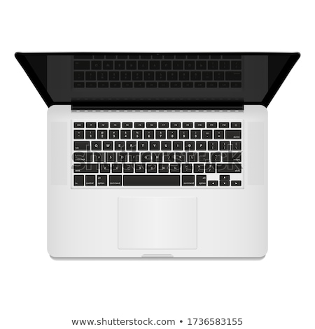 Laptop Computer, Top Down View, Keyboard, Realistic Vector Illustration Stock photo © jeff_hobrath