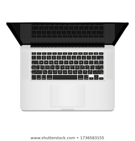 Laptop computer top beneden toetsenbord realistisch Stockfoto © jeff_hobrath
