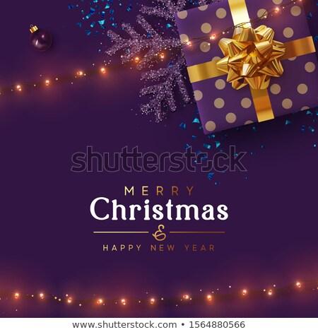 Navidad venta diseno pelota luces Foto stock © articular