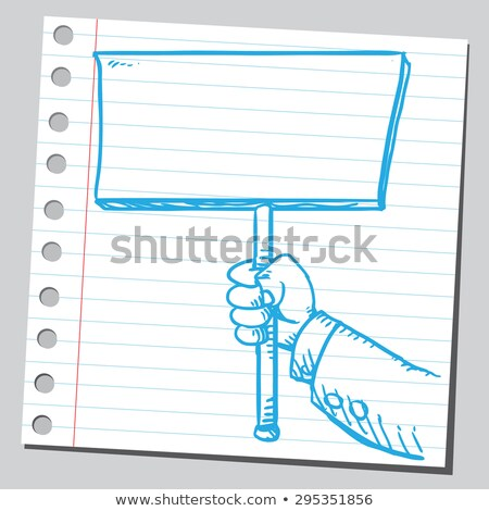 businessman protesting with banner Stock photo © rogistok