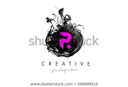 Carta magenta logotipo vetor ícone escritório Foto stock © blaskorizov
