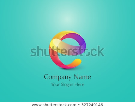 letter e logo e purple yellow sign icon vector stock photo © blaskorizov