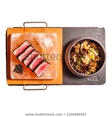 Rood · paprika · zwarte · dienblad · voedsel - stockfoto © grafvision