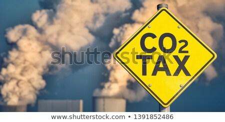 Kohlenstoff Steuer Symbol Öl Gas Preis Stock foto © Lightsource