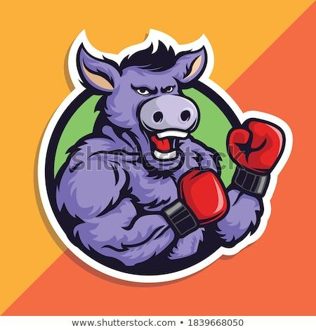 american donkey boxer usa mascot stock photo © patrimonio