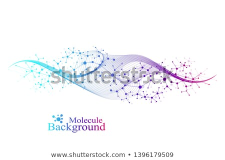 Dna Structure Vector. Futuristic Code. Biotechnology Concept. Biochemistry Flyer. Illustration Stock photo © pikepicture