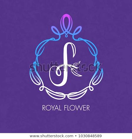 A letter F for flower Stock photo © colematt
