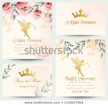 happy birthday little princess card set vector stock photo © robuart