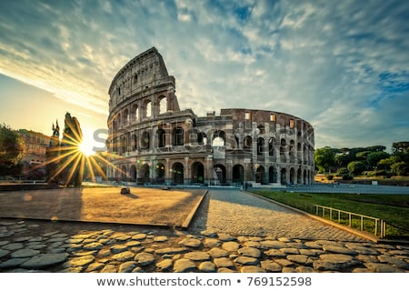 View of Colloseum at sunrise Stock photo © vwalakte