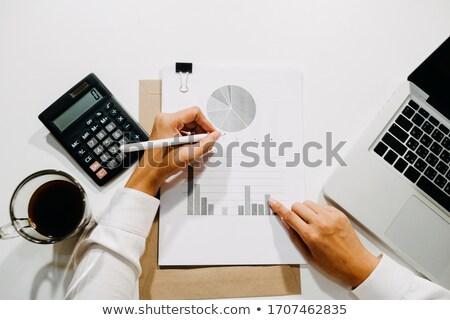 Stock photo: flat type patient men_desk work