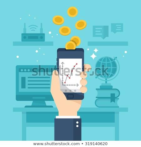 Móviles gestión gastos dispositivo red Foto stock © RAStudio