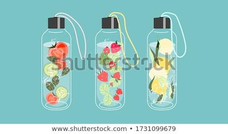 tavasz · ásványvíz · üveg · jég · természetes · tájkép - stock fotó © lana_m