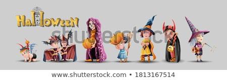 Enojado nino mago Cartoon ilustración nino Foto stock © cthoman