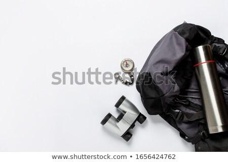 Bussola bianco azione magnetico ago punta Foto d'archivio © make