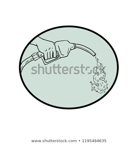 gas nozzle pumping dollar out drawing stock photo © patrimonio