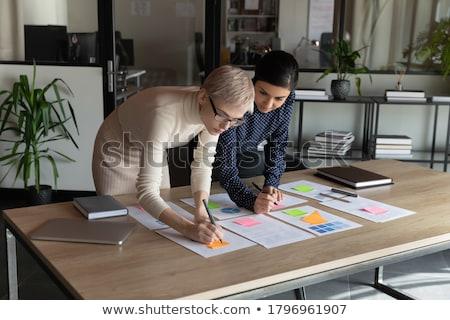 Csapatmunka munkahely hatásfok startup szett vektor Stock fotó © robuart