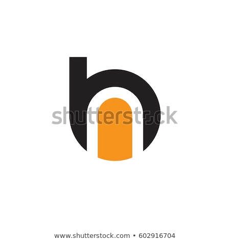 手紙 · 黒 · オレンジ · ロゴタイプ · シンボル · にログイン - ストックフォト © blaskorizov