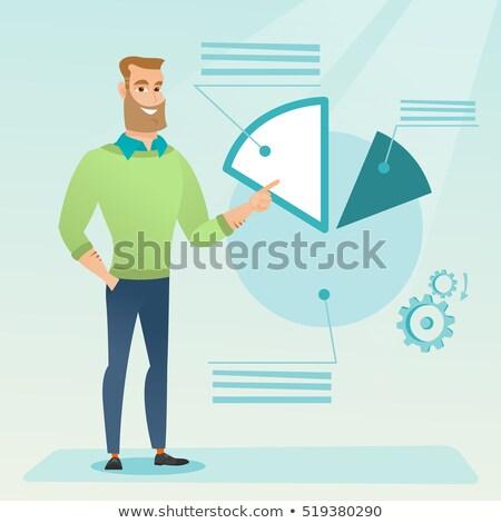 üzletember mutat kördiagram bemutató konferencia üzlet Stock fotó © RAStudio