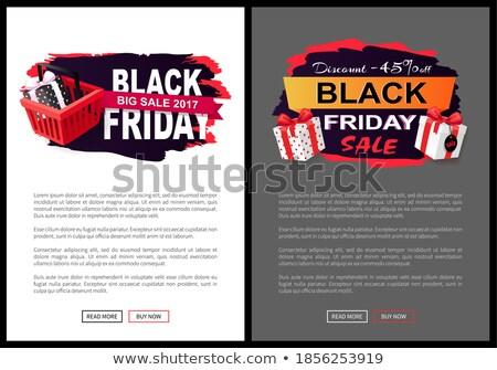Desconto preço membro pontilhado caixa de presente isolado Foto stock © robuart