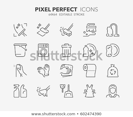 Cleaning Service, Machine with Brush Tool Vector Stock photo © robuart