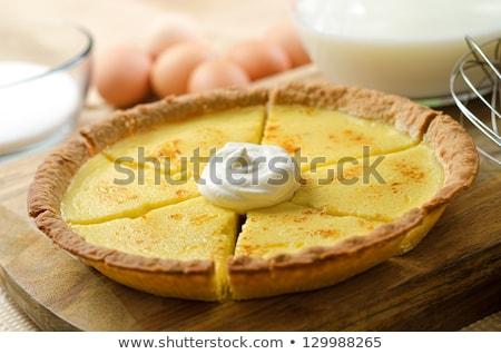 Homemade Custard Pie Stock photo © mpessaris