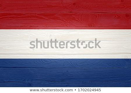 Holanda bandeira moldura de madeira ilustração projeto fundo Foto stock © colematt