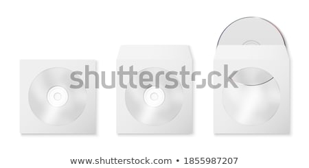 Envelope for CD with window, vector illustration. stock photo © kup1984