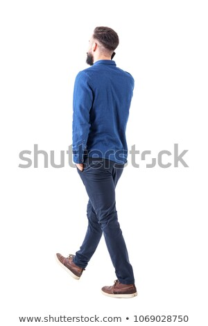 side rear view of a  smart casual man  walking away  Stock photo © feedough