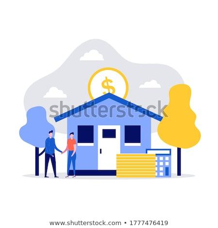 Hipoteka pożyczka lądowanie strona płatność Zdjęcia stock © RAStudio