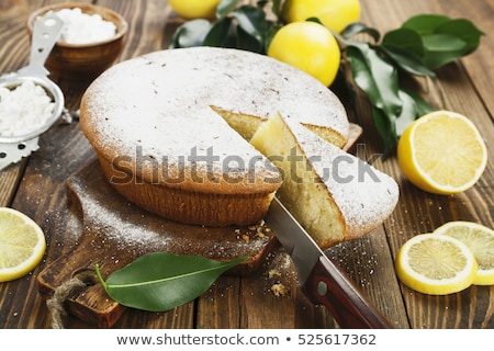 Lemon cake dessert Stock photo © YuliyaGontar