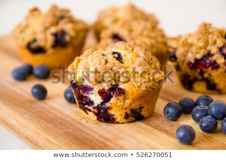 freshly baked blueberry muffins stock photo © yuliyagontar