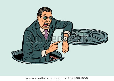 businessman was late because of road works Stock photo © studiostoks