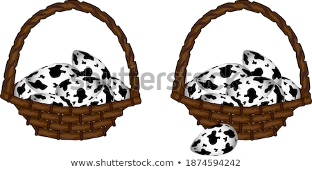 Quail eggs In white wicker basket. The concept of Easter Holidays Stock photo © dash