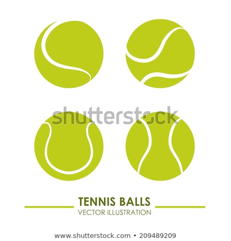 Tennis Ball Over White Stock photo © ArenaCreative