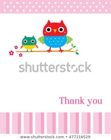 Aranyos vektor köszönjük kártya vadállatok hideg Stock fotó © Giraffarte