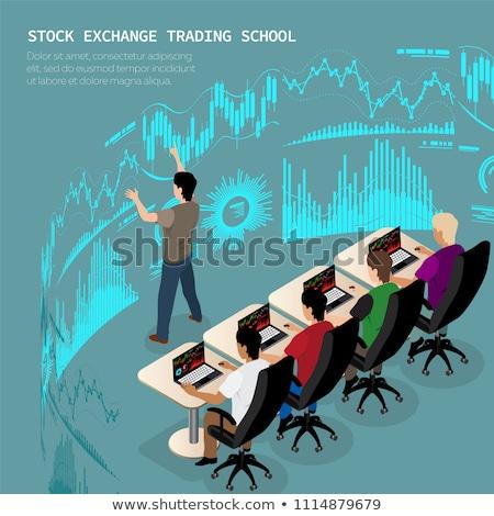 トレーダー 学校 グループ 訓練 取引 ビジネス ストックフォト © sanyal
