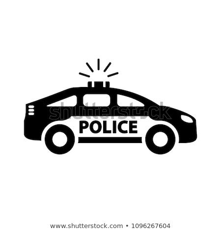polícia · ícone · ver · cinza · luz - foto stock © angelp