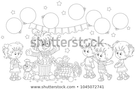 Circo palhaço colorido balões ilustração paisagem Foto stock © colematt