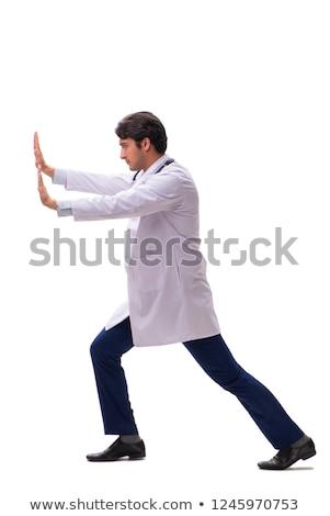 médecin · stress · épuisé · fatigué · médecin · poussant - photo stock © elnur