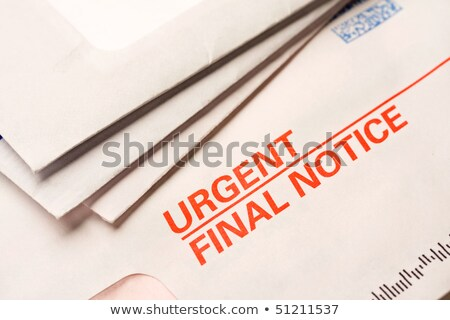 a letter with the label final notice stock photo © zerbor