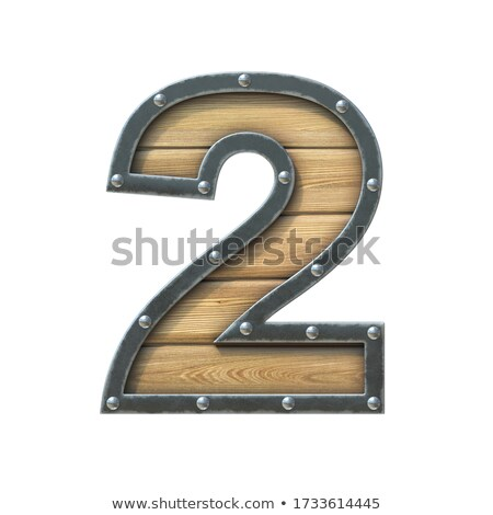 Rusty metal font Number 2 TWO 3D Stock photo © djmilic