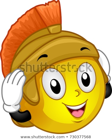 Mascot Smiley Roman Soldier Headdress Illustration Stock photo © lenm