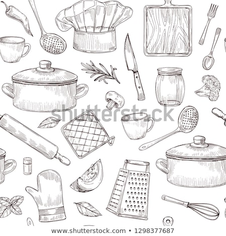 cuchara · tenedor · cucharón · resumen · diseno - foto stock © netkov1