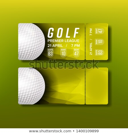 Ticket Tear-off Coupon For Golf Tournament Vector Stock photo © pikepicture